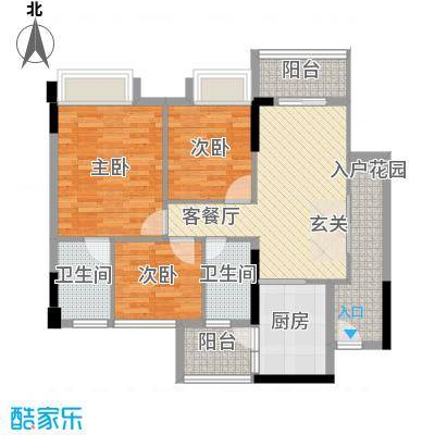 泓基悦苑6.00㎡B2户型