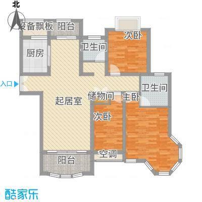 紫御城12.80㎡A户型3室2厅2卫1厨