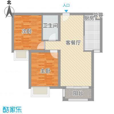 绿宸万华城B2、B3#楼B二居户型
