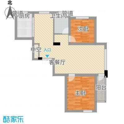 中铁琥珀湾8.00㎡72#、73#、74#楼E户型3室2厅1卫1厨