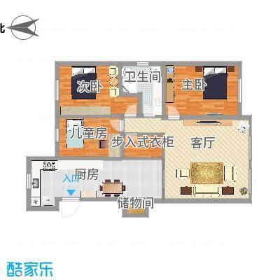大连-北斗家园-设计方案-大厨房+步入衣柜