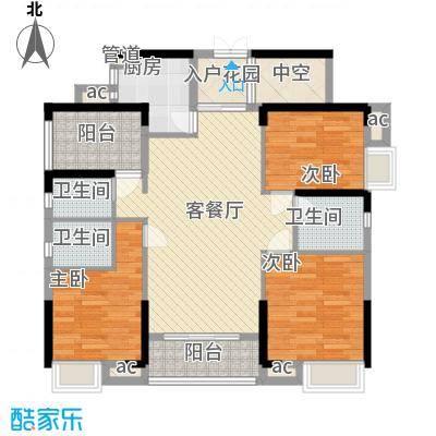 美的・时代城113.00㎡10栋01户型4室2厅3卫1厨