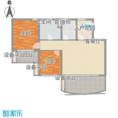 华润小径湾113.00㎡点式平层A户型1室2厅2卫1厨