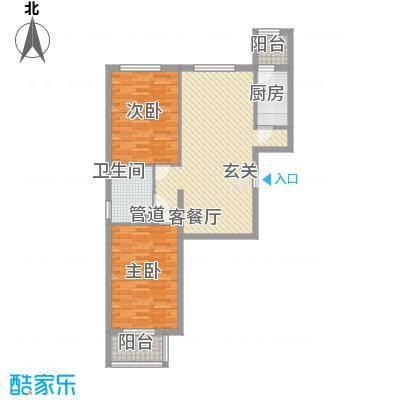 北京御园B15两居户型