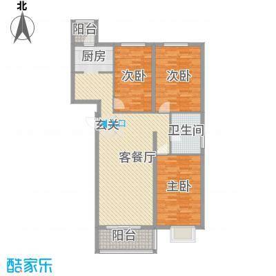 北京御园C18三居户型
