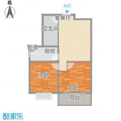 东润国际新城84.60㎡26号楼1-04/05户型2室2厅1卫1厨