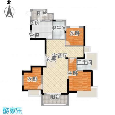 巴丽新地138.00㎡a1户型3室2厅2卫1厨
