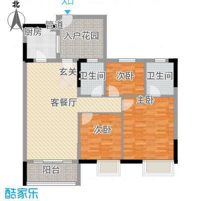 顺景蔷薇山庄四期17.50㎡第50栋3-16层0户型3室1厅2卫1厨