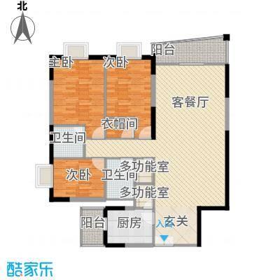 银城花园137.61㎡9栋01户型3室2厅2卫1厨
