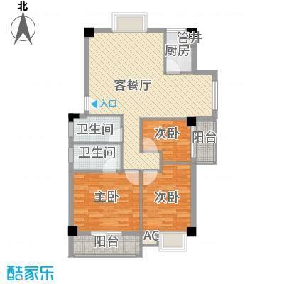 绿洲富城�苑21B楼23#楼户型3室2厅2卫1厨
