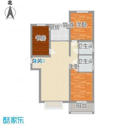 燕大星苑红树湾126.00㎡A2户型3室2厅2卫1厨