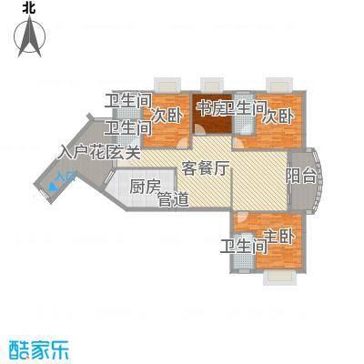 五邑锦绣豪庭17.10㎡五期5栋03户型4室2厅3卫1厨