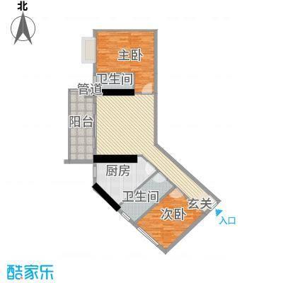 五邑锦绣豪庭1.18㎡五期5栋F户型2室2厅2卫1厨