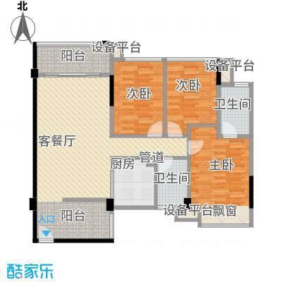 大翼龙苑14.51㎡5栋1/2单位01/0户型3室2厅2卫1厨