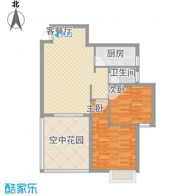 海滨花园8.45㎡2栋标准层D户型2室2厅1卫1厨