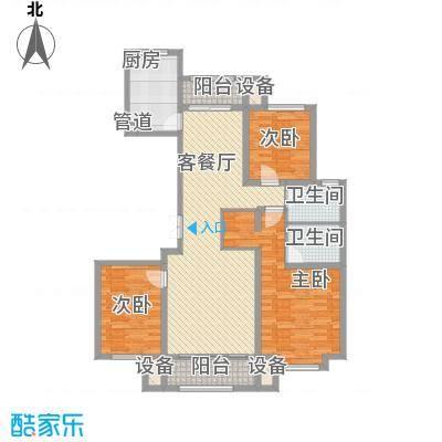 中铁・逸都国际145.00㎡二期兰庭7#11#楼D1户型3室2厅2卫1厨