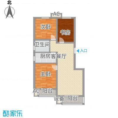 华北家园3、4号楼F户型