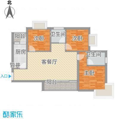富中蝴蝶谷2期21-B户型