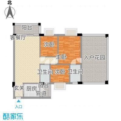 金朗华庭11.60㎡B户型3室2厅2卫1厨