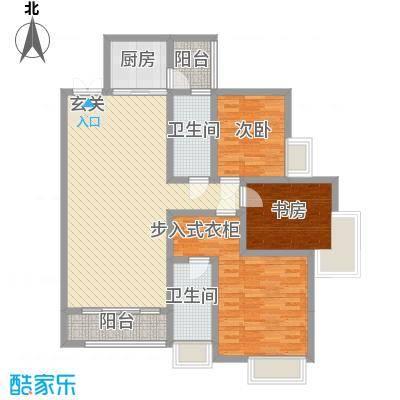 锦江国际新城141.00㎡6/5栋03单元户型4室2卫1厨