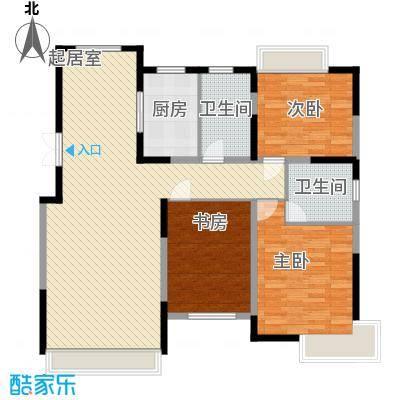 融创上城别墅135.00㎡C户型3室2厅2卫1厨