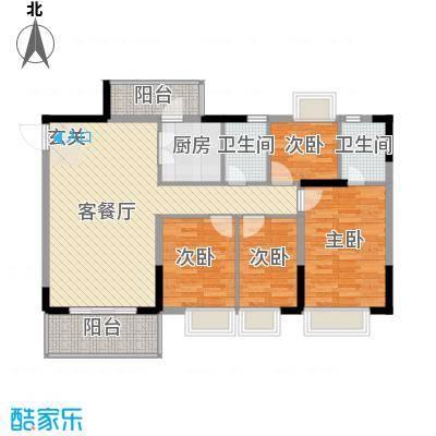 金田花园花域19栋标准层D1户型