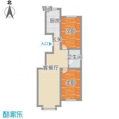 桃源水榭二期叠萃11.00㎡户型2室1厅1卫1厨