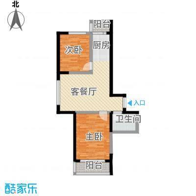 成城蓉桥壹号81.73㎡C6户型2室1厅1卫1厨