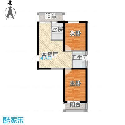 成城蓉桥壹号7.83㎡C4户型2室1厅1卫1厨