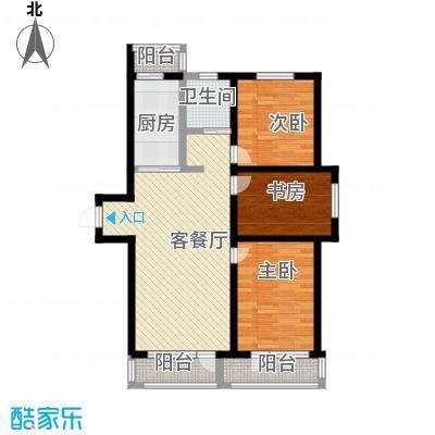 成城蓉桥壹号18.43㎡C1户型3室2厅1卫1厨