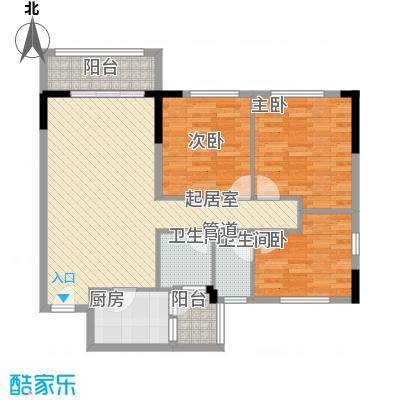 格林童话世界别墅三期洋房B1户型3室2厅2卫