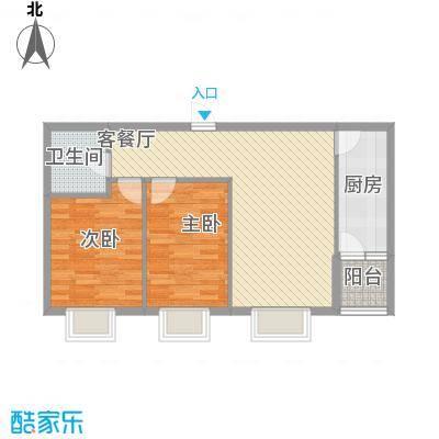香邑溪谷83.53㎡A6户型2室2厅1卫1厨