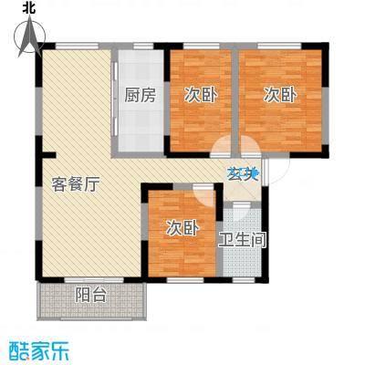 春江花园115.65㎡1#楼高层D户型3室2厅1卫1厨