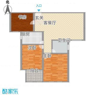 德仁・翡翠城6.30㎡1#、2#、3#、9#楼C6户型
