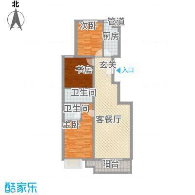 龙堂新苑12.20㎡D户型3室2厅2卫