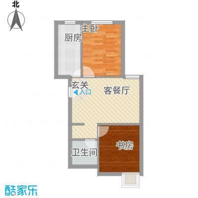 龙堂新苑64.76㎡C户型2室2厅1卫