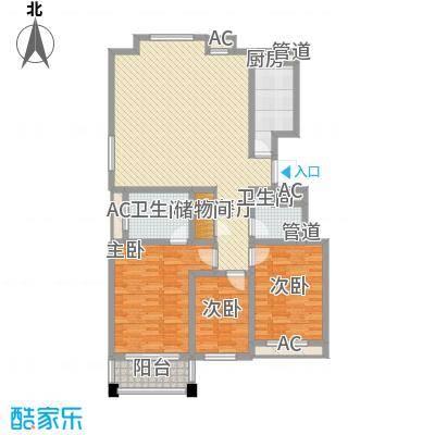 外海蝶泉山庄别墅126.00㎡F户型3室2厅2卫