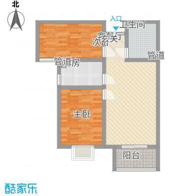 高新香江岸87.33㎡8#E户型2室2厅1卫1厨