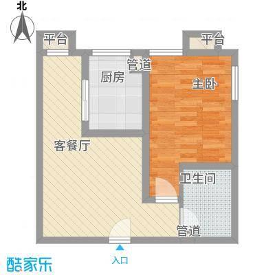 百欣花园5.48㎡户型