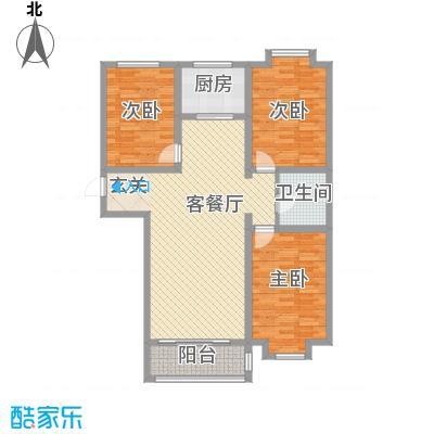 半山半水12.00㎡F5户型3室2厅1卫1厨