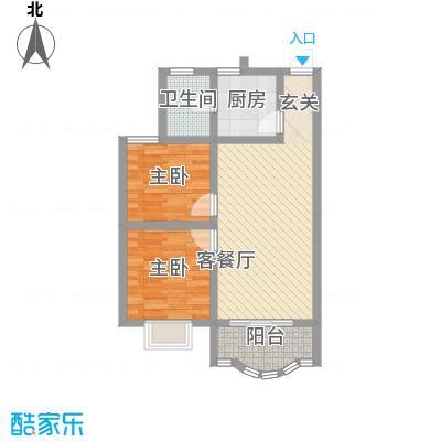 秀丽景苑77.00㎡户型