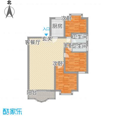 秀丽景苑122.00㎡户型