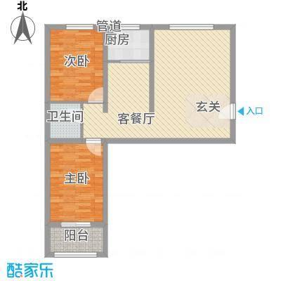 华跃城(西区)华跃城D户型2室1厅1卫1厨
