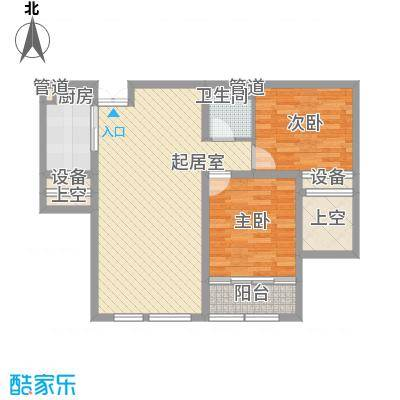 金色年华C2户型2室2厅1卫1厨