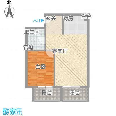 澳景蓝湾63.11㎡5号楼C2户型