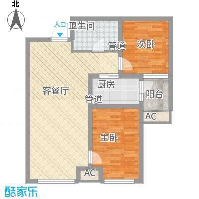 首尔甜城85.00㎡一期F2户型2室2厅1卫1厨