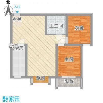燕大星苑红树湾3.00㎡A3户型2室2厅1卫1厨