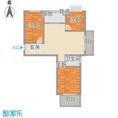 教授花园二期113.40㎡A1户型3室2厅1卫1厨