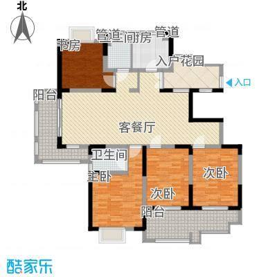 悦达悦珑湾175.00㎡二期12/19#号楼F2户型4室2厅2卫1厨