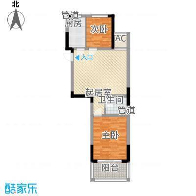 外海蝶泉山庄别墅82.44㎡E9户型2室2厅1卫